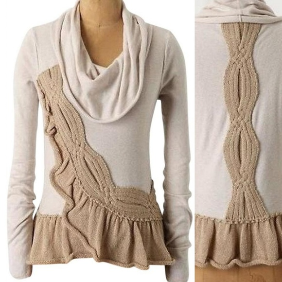 Anthropologie Sweaters - Anthropologie Moth Braided Cowlneck Sweater